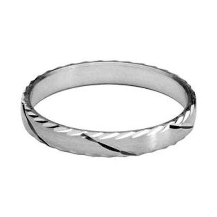 Bague alliance anneau aspect brossé trait oblique diagonale 3 mm argent 925 couleur unique So Chic Bijoux | La Redoute Footaction Sortie bJXkd3G