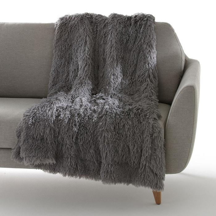 plaid doudoux gris la redoute interieurs la redoute. Black Bedroom Furniture Sets. Home Design Ideas