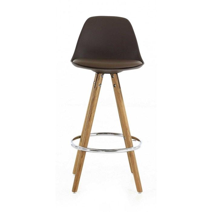 tabouret de bar scandinave noir uma declikdeco la redoute. Black Bedroom Furniture Sets. Home Design Ideas