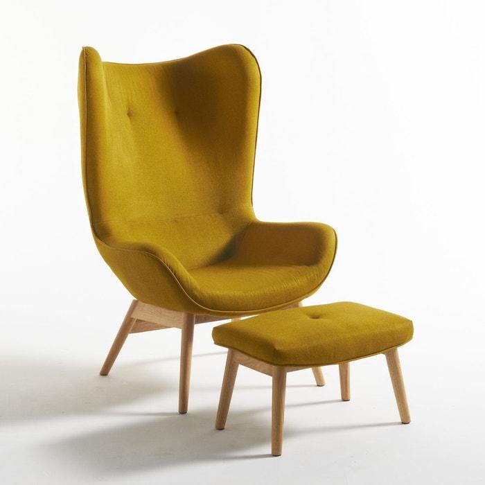 fauteuil oreilles et son repose pieds crueso la redoute interieurs la redoute. Black Bedroom Furniture Sets. Home Design Ideas