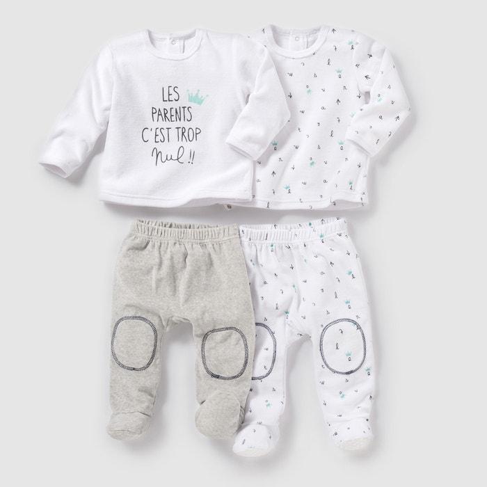 Imagen de Pijama 2 prendas de terciopelo (lote de 2) 0 meses-3 años R mini