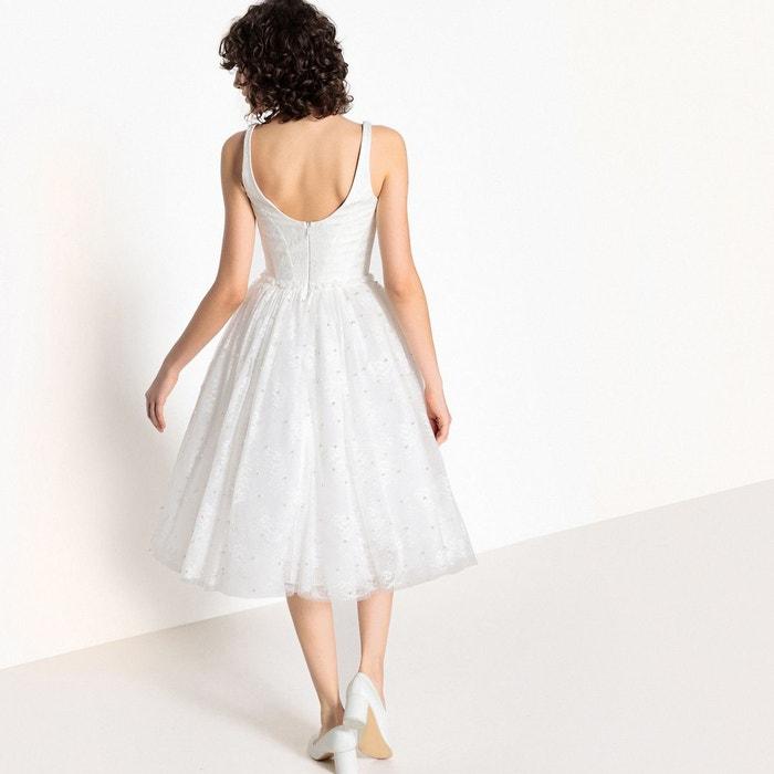 MADEMOISELLE R Robe de mariée évasée, dentelle et perles