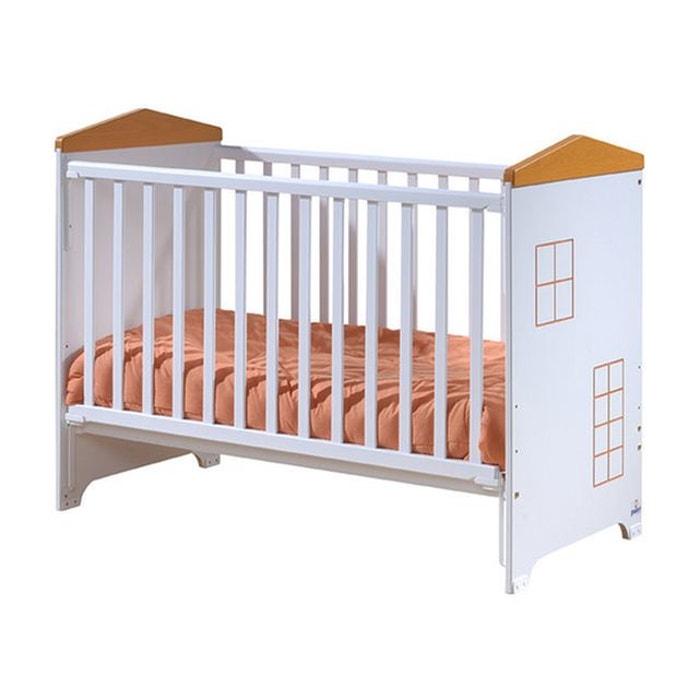 lit b b barri re coulissante little house blanc et. Black Bedroom Furniture Sets. Home Design Ideas
