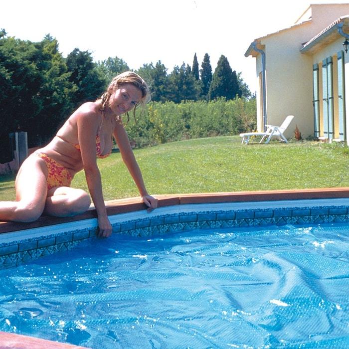 B che bulles pour piscine ovale 730 x p370 x h132 cm 300 microns couleur unique lekingstore for Piscine la redoute