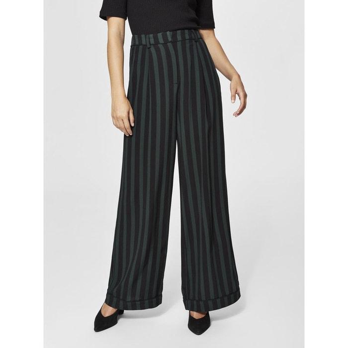 Pantalon taille haute - black Selected Femme   La Redoute 01f34218822e