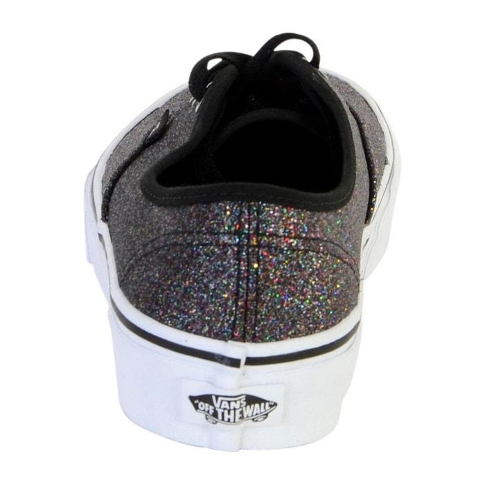Basket authentic glitter rainbow black noir Vans