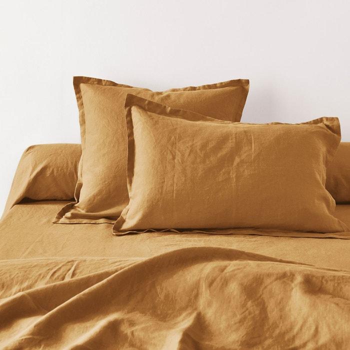 taie d 39 oreiller pur lin lave la redoute interieurs la. Black Bedroom Furniture Sets. Home Design Ideas