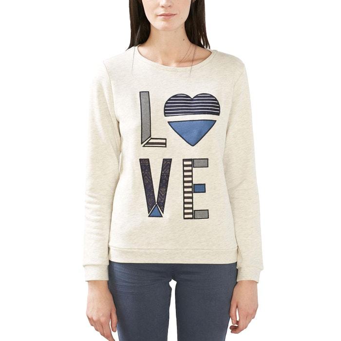afbeelding Sweater met LOVE borduursel ESPRIT