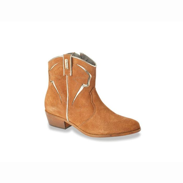 Boots cuir texas camel Les Tropeziennes Par M Belarbi