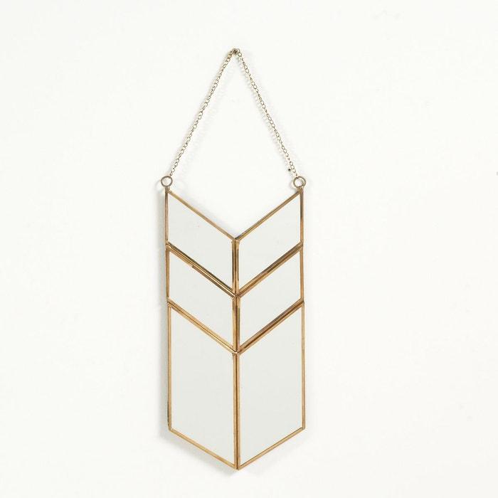 Miroir forme amulette en m tal uyova laiton la redoute for Miroir mural metal