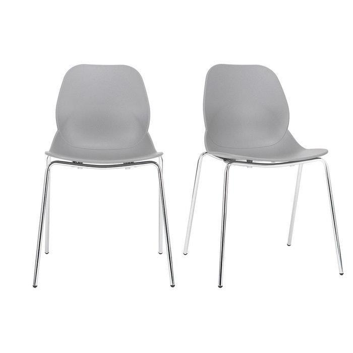Chaises Design Empilables Avec Pieds Mtal Lot De 2 TROCADERO MILIBOO Image 0