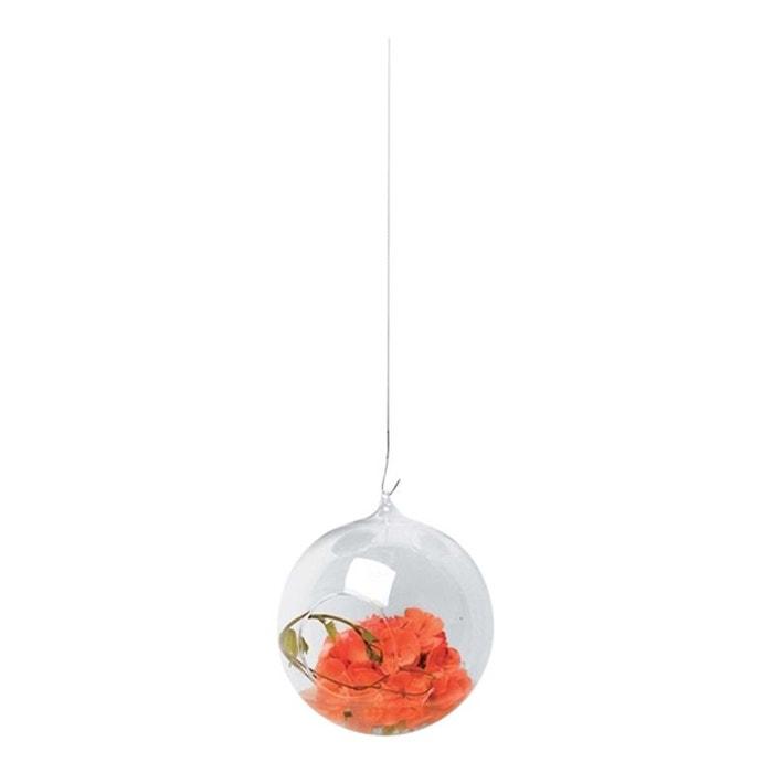 vase suspendu en verre transparent bowl 10 blanc tung design la redoute. Black Bedroom Furniture Sets. Home Design Ideas