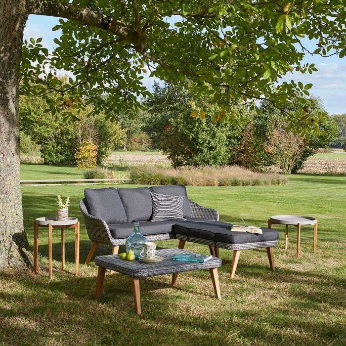 canap de jardin 3 places grigio la redoute interieurs. Black Bedroom Furniture Sets. Home Design Ideas