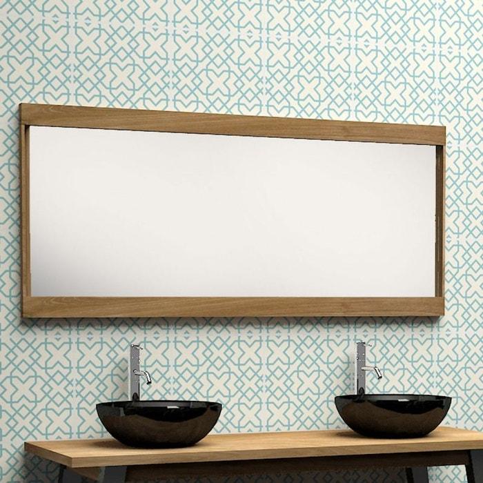 miroir en bois de teck 150 teck brut bois dessus bois dessous la redoute. Black Bedroom Furniture Sets. Home Design Ideas