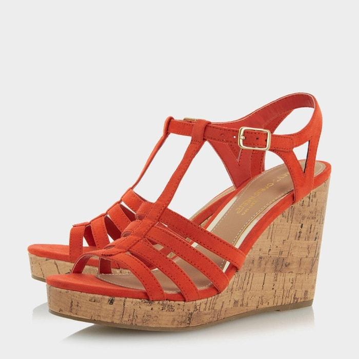 ... Sandales style salomé à semelles compensées en liège - keeli Head Over  Heels By Dune ...