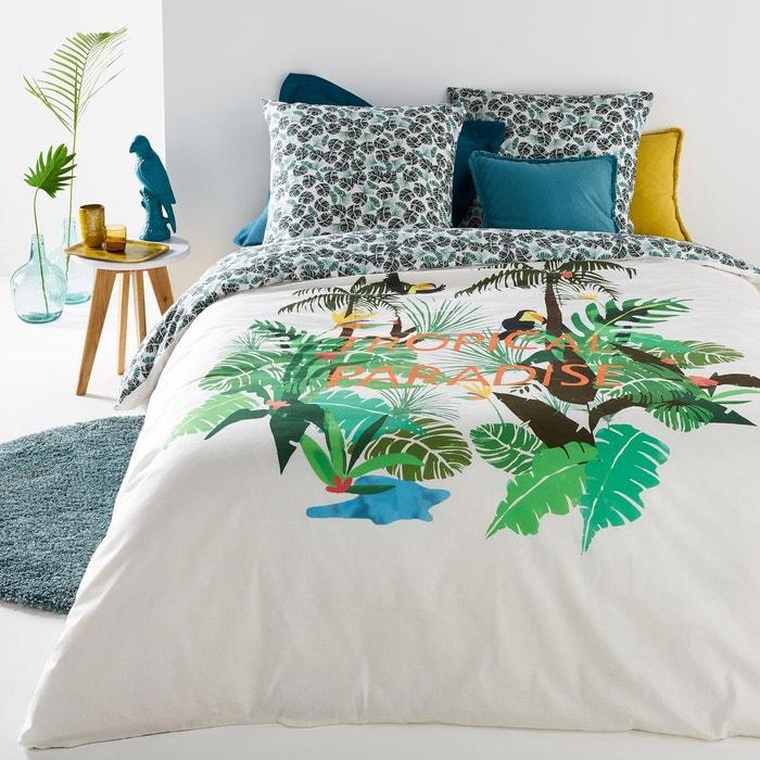 housse de couette imprim e welcome to the jungle imprim tropical la redoute interieurs la. Black Bedroom Furniture Sets. Home Design Ideas