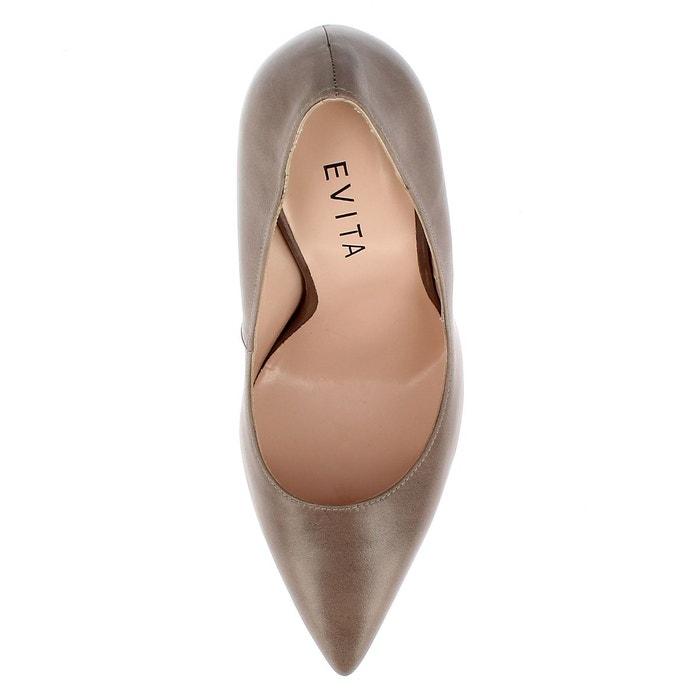 Escarpins femme taupe Evita