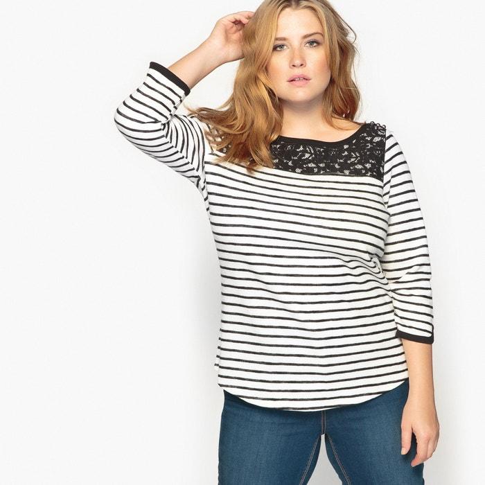 Image Breton Laced Cotton T-Shirt CASTALUNA
