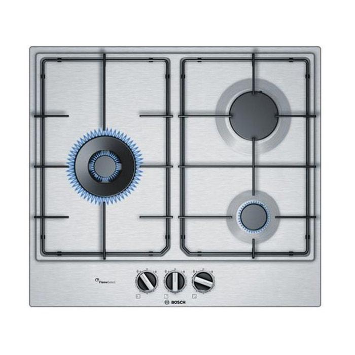 Bosch - table de cuisson à gaz 60cm 3 feux inox - pcc6a5b80 Bosch   La  Redoute 9a6e5f47ff2a