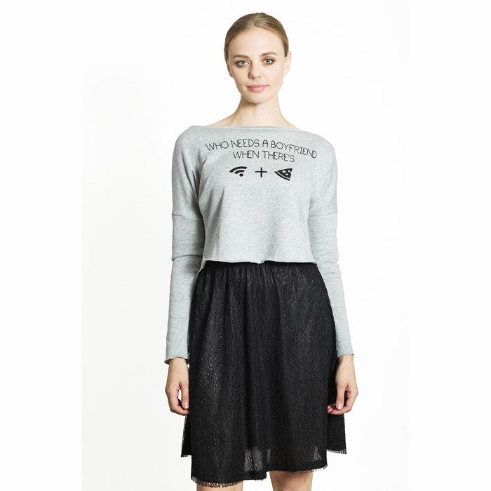 Printed Cropped Sweatshirt  MIGLE+ME image 0