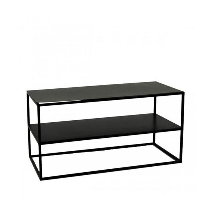 table basse en mtal noir longueur 80cm x largeur 40cm wadiga image 0