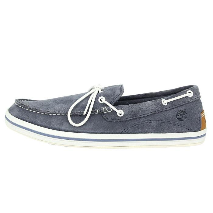 Chaussures Suede Bateaux Cuir Timberland Bay Casco Bleu Homme wnNvm80