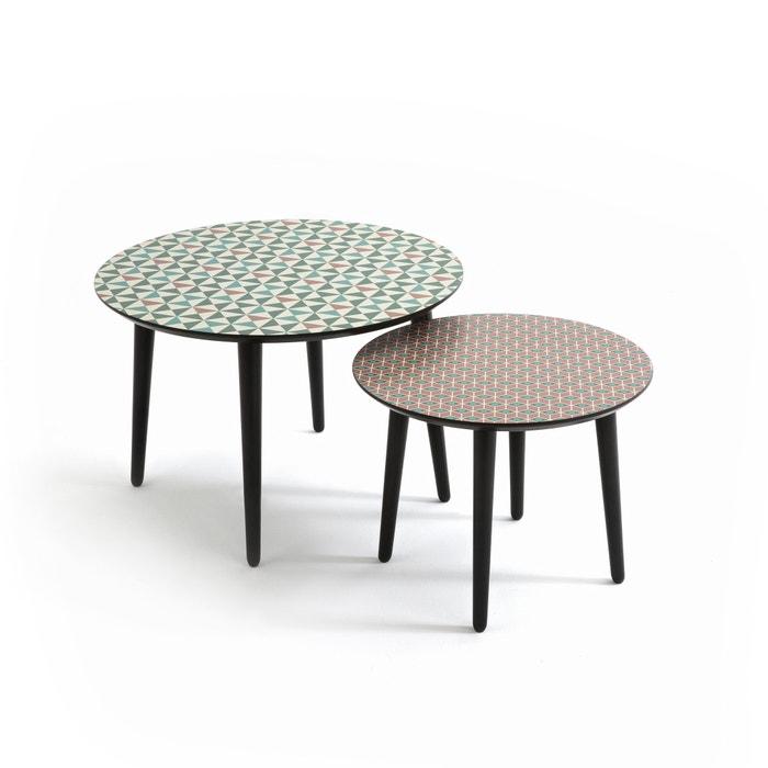 tables basses plateau d co sofia lot de 2 imprim la. Black Bedroom Furniture Sets. Home Design Ideas