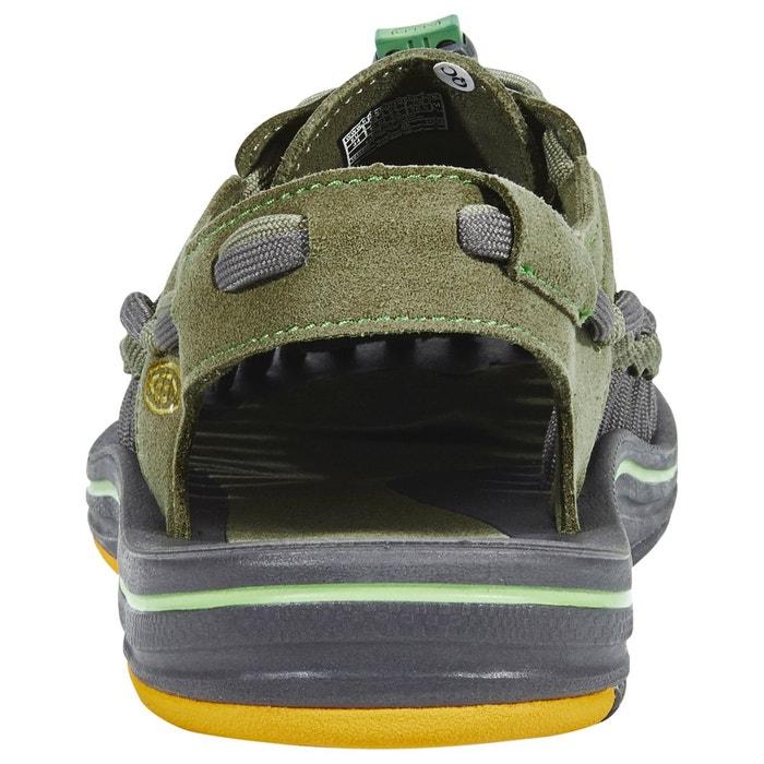 Uneek flat - sandales homme - olive olive Keen