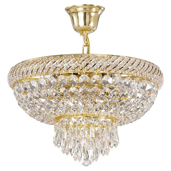 lustre pampilles cristal dor en verre dore keria la redoute. Black Bedroom Furniture Sets. Home Design Ideas