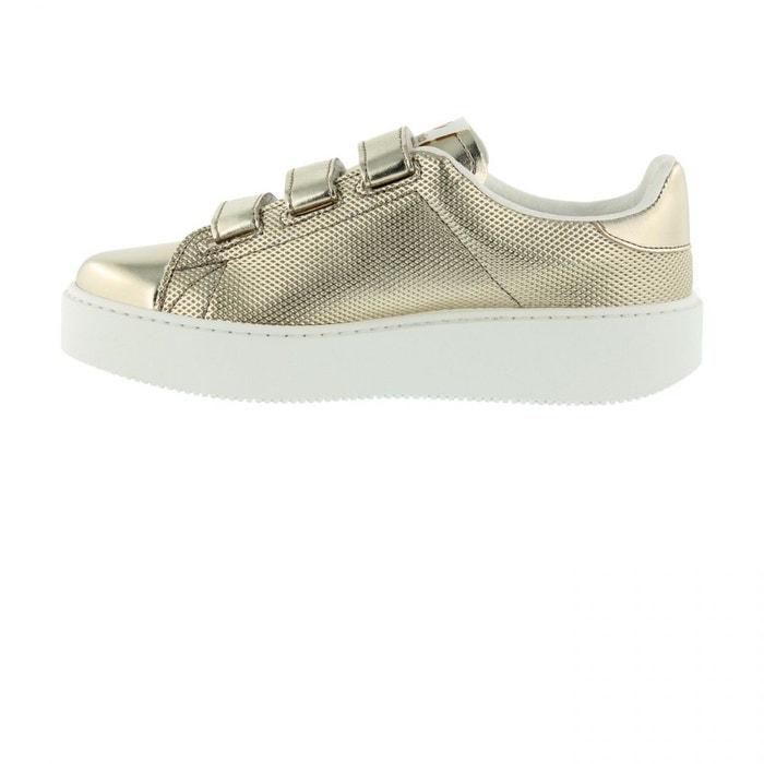 Chaussures deportivo velcros metal platino jaune Victoria