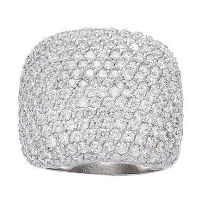 Livraison Gratuite Rabais Visite Pas Cher Bague anneau luxe pavage oxyde de zirconium argent 925 couleur unique So Chic Bijoux | La Redoute OO4fx1