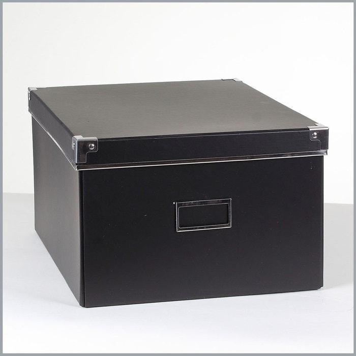 bo te carton noir m tal petit mod le noir casame la redoute. Black Bedroom Furniture Sets. Home Design Ideas