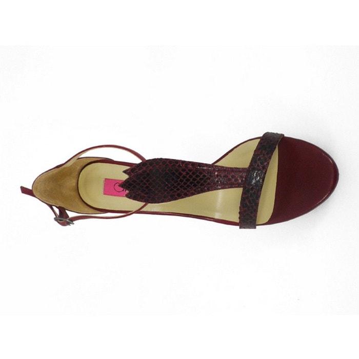 Chaussures femme en cuir aerie bordeaux Pring Paris