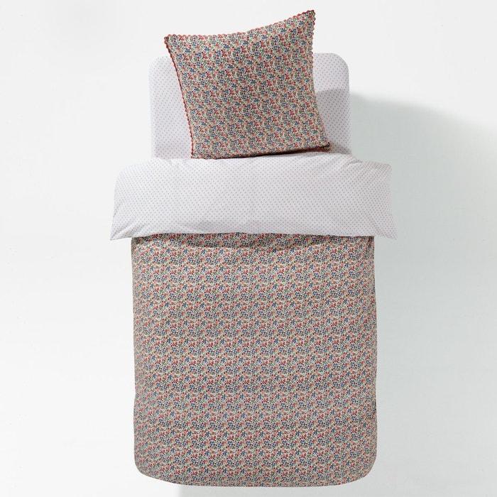 housse de couette enfant fleurity rose corail bleu vert. Black Bedroom Furniture Sets. Home Design Ideas
