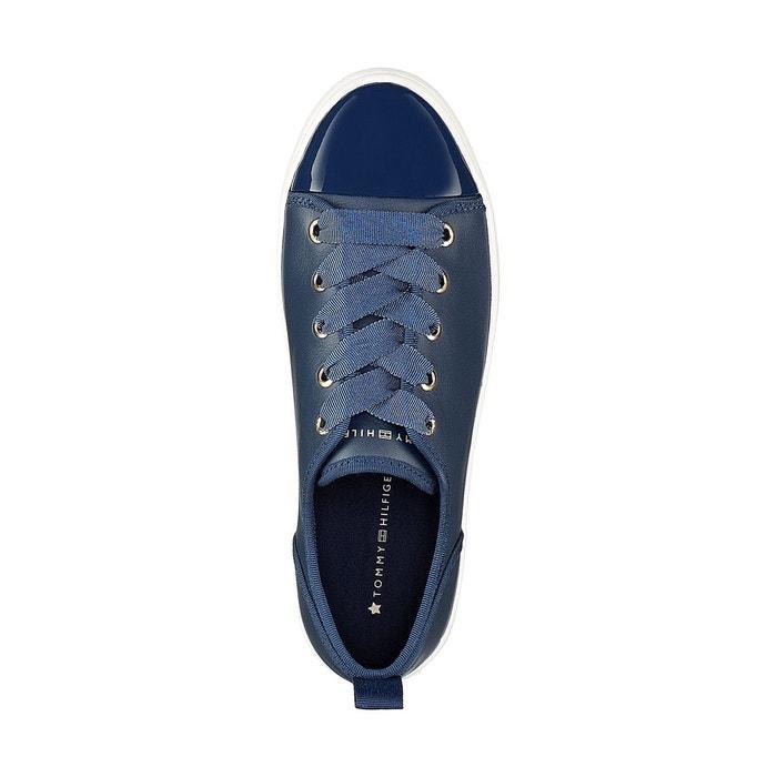 Baskets cuir jupiter bleu marine Tommy Hilfiger