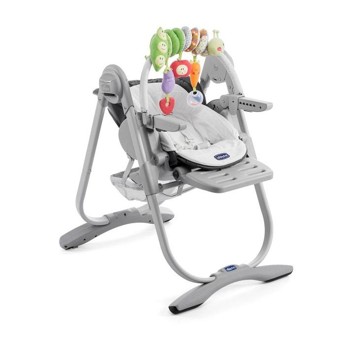 chaise haute grise polly magic gris chicco | la redoute