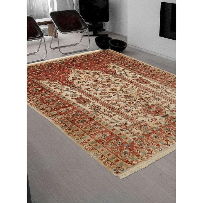 tapis d 39 orient nou main prestige jihangir soie 42 laine et soie beige un amour de tapis la. Black Bedroom Furniture Sets. Home Design Ideas