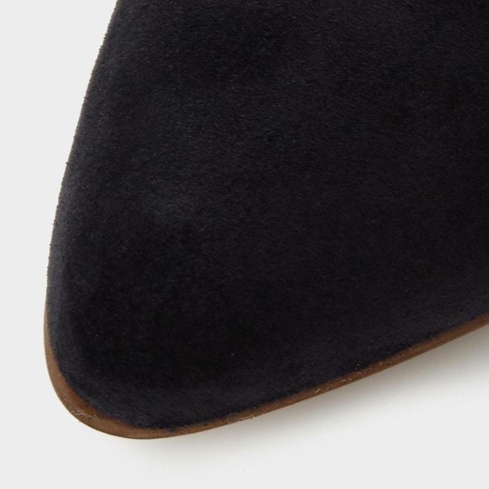 Bottines chelsea à talons carrés et bout pointu - perin Dune Black