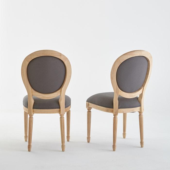 2er set st hle nottingham im louis xvi stil grau la redoute interieurs la redoute. Black Bedroom Furniture Sets. Home Design Ideas