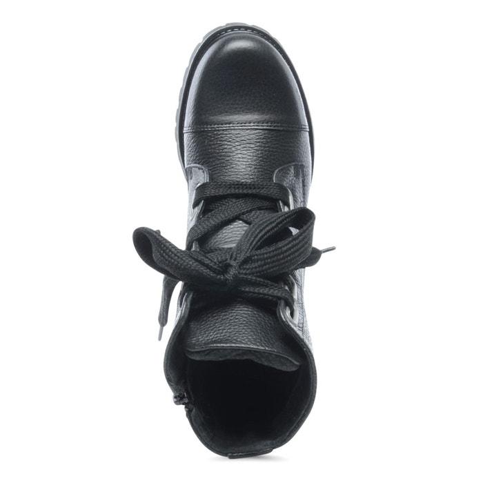 Bottes à lacets noir Sacha