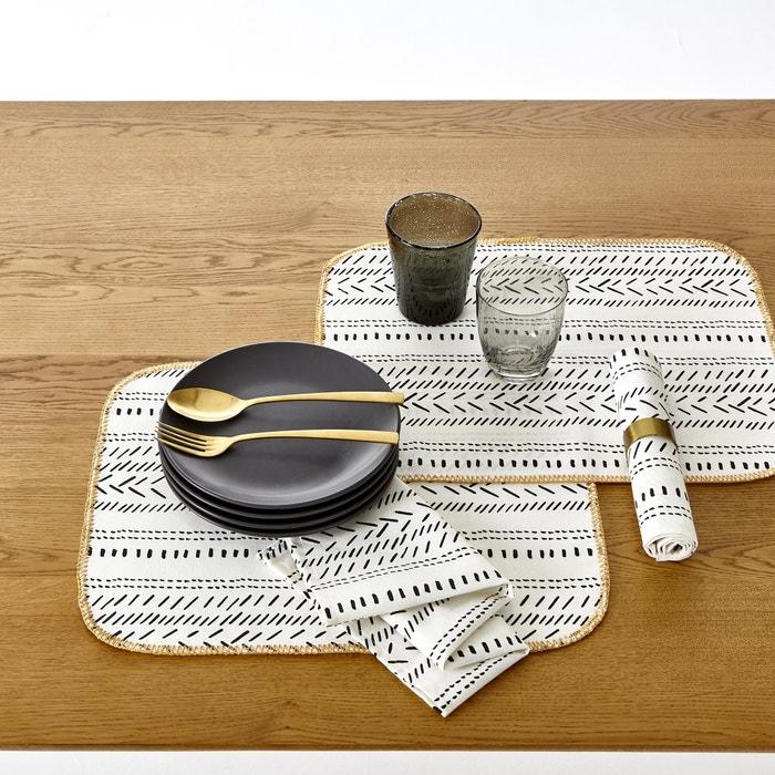 Sets de table imprim e maloja lot de 3 la redoute interieurs la redoute - La redoute linge de table ...