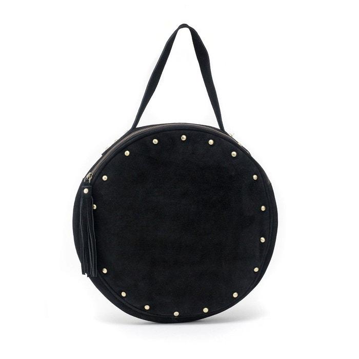 New York 89052 73d91 Grand sac rond noir SUZIE