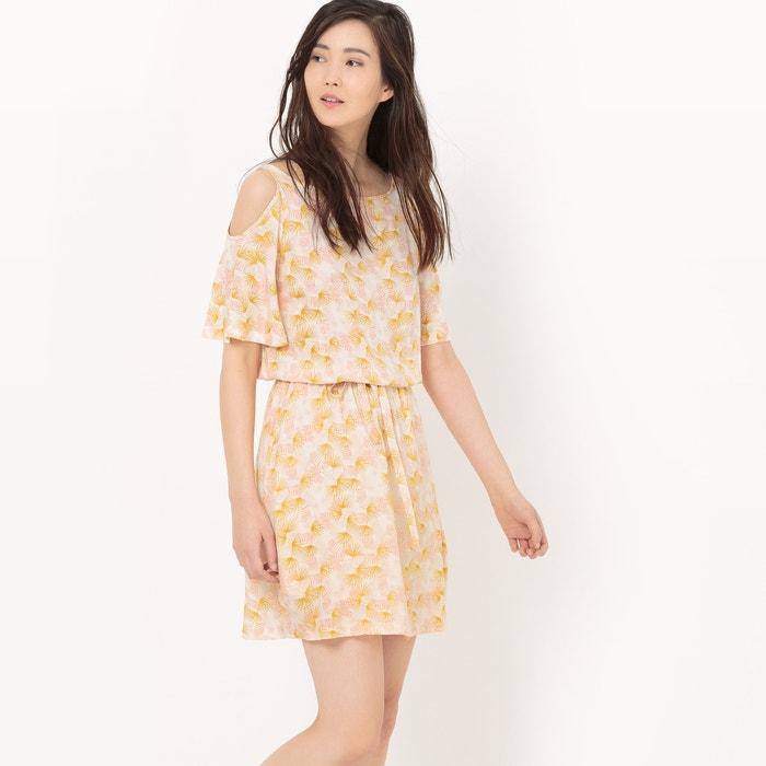 afbeelding Soepele jurk met ontblote schouders La Redoute Collections