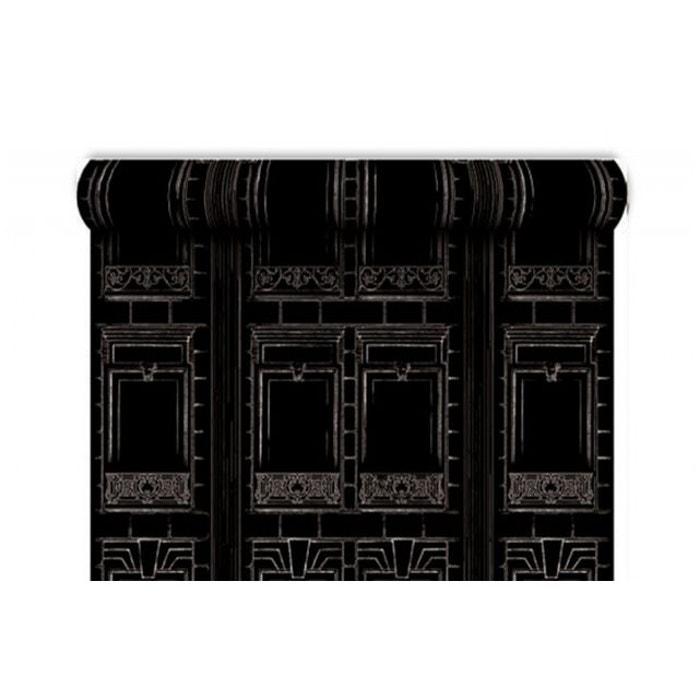 Papier Peint Baroque Haussman Noir Argent Gris Koziel La Redoute
