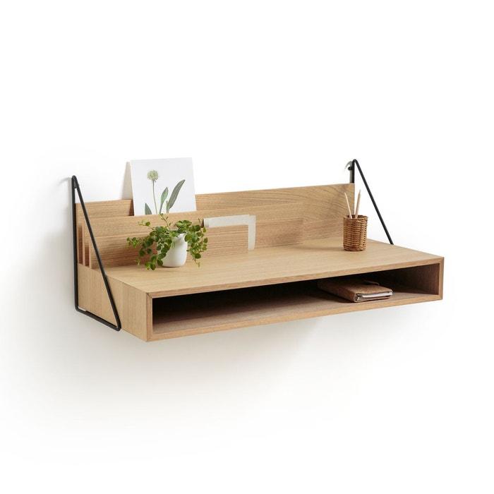 bureau mural trigala bois clair ch ne la redoute interieurs la redoute. Black Bedroom Furniture Sets. Home Design Ideas