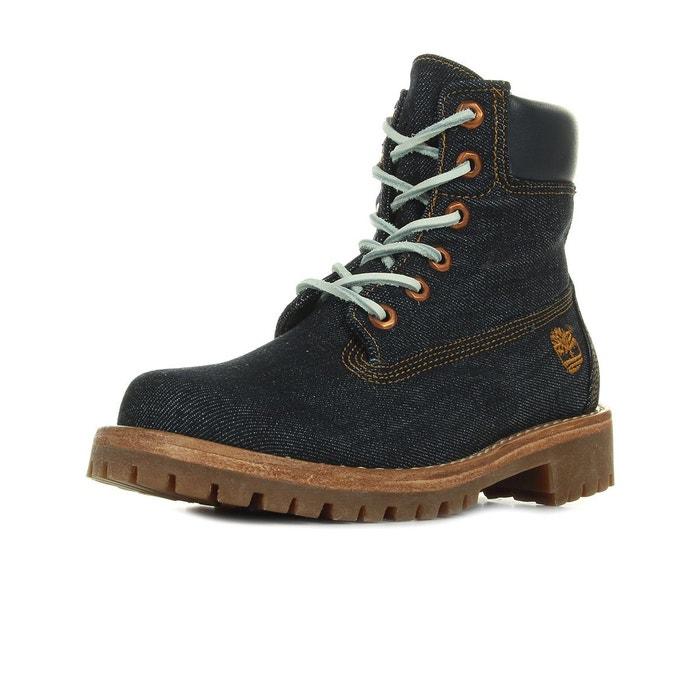 Boots timberland ltd fabric 6in - ca1g7r bleu marine Timberland