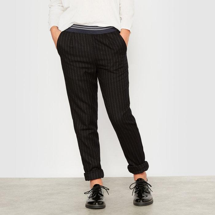 Image Pantalon fluide rayé esprit lainage 10-16 ans La Redoute Collections