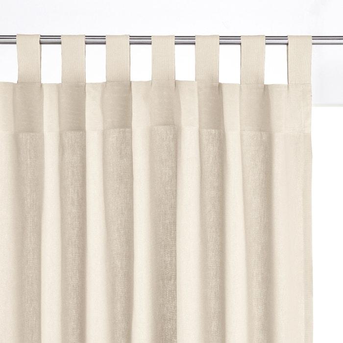 Cotton Tab Top Single Curtain Scenario La Redoute