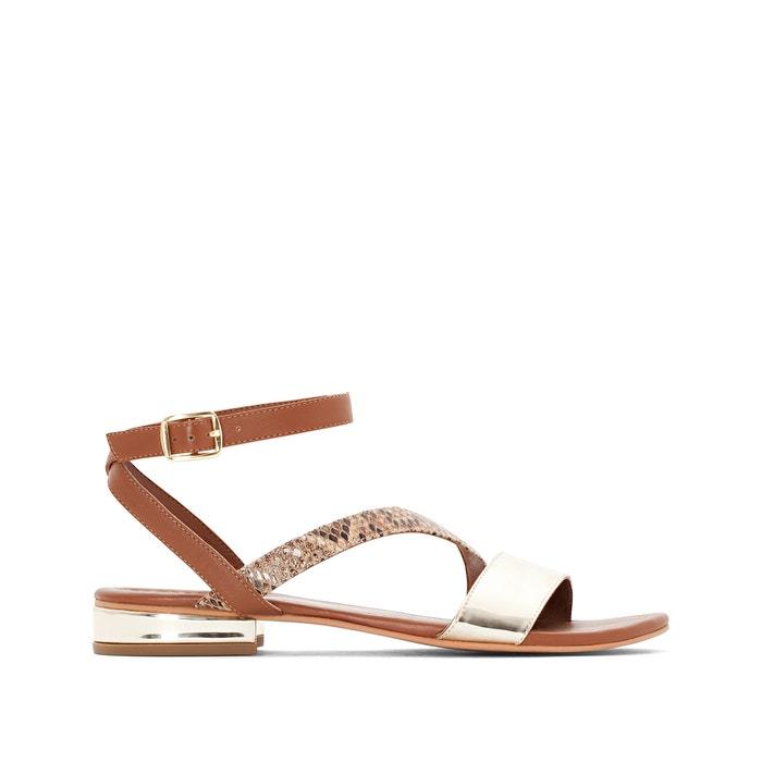 Wide Fit Metallic Sandals, Sizes 38-45  CASTALUNA PLUS SIZE image 0