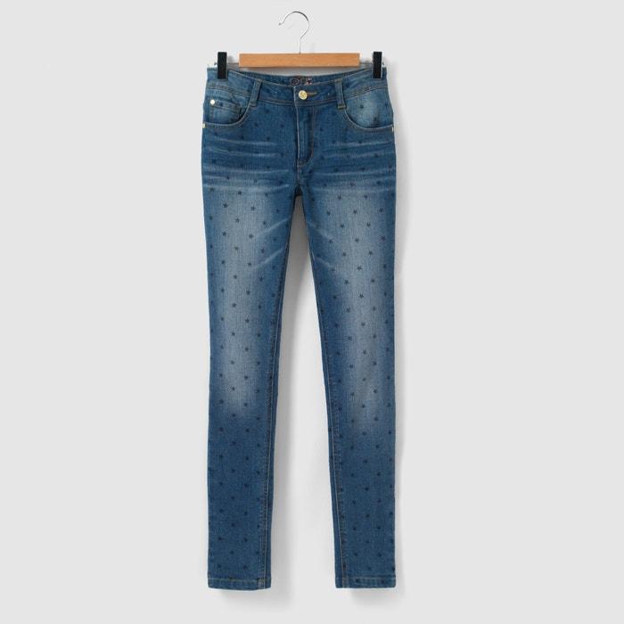 Image Skinny jeans met sterrenprint 10-16 jr La Redoute Collections